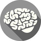 flat brain icon - photo #8
