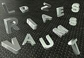 Texture of metal letters