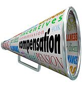 Compensation Bullhorn Megaphone Salary Pay Benefits