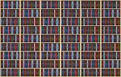 Infinite books on bookshelf