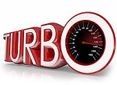 Turbo Red 3d Word Speedometer Fast Racing