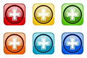 pharmacy colorful web icons