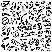 Good morning doodles - Illustration