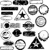 Empty rubber stamps