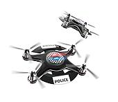 Two police drones