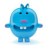 3d Odd blue creature