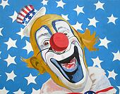 Patriotic American Uncle Sam clown