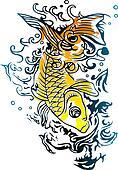 energetic fish swimming in the ocean