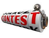 Contest Word Slot Machine Wheels Play Win Jackpot