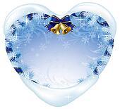 Christmas heart-shaped card