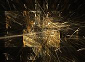 Exploded Gold Tiles