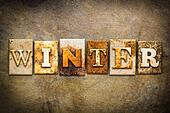 Winter Concept Letterpress Leather Theme