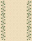 Ivy border wedding invitation