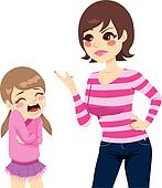 Mother Scolding Girl