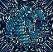 blue mosaic unicorn
