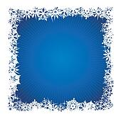 Square blue snowflake background