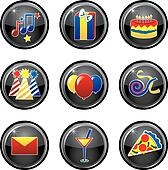 Party Icon Buttons