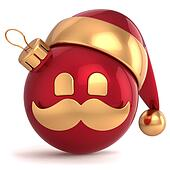 Christmas ball avatar Santa Claus