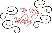 Be My Valentine greeting header