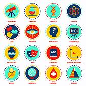 Science areas icons