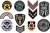 Emblem shield military badge logo