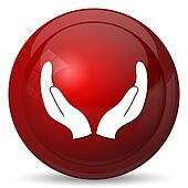 Protecting hands icon