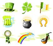 St. Patricks Day icon set