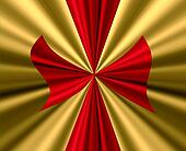Red Bow on Gold