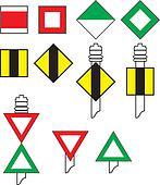 Signs river navigation