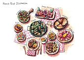 french food illustration