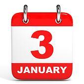 Calendar. 3 January.