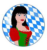 illustration of a oktoberfest button