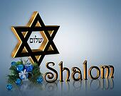 Hanukkah Background Shalom Star of David