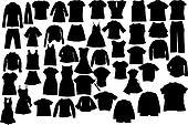 Vector clothes silhuettes