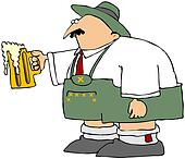 Oktoberfest Man With A Mug Of Beer
