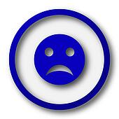 Sad smiley icon