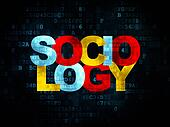 Learning concept: Sociology on Digital background