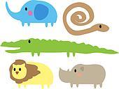 Cute jungle animals
