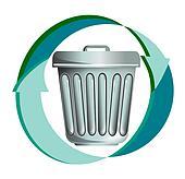 Rubbish recycling icon