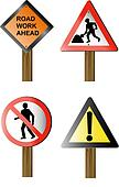 Roadworks and construction site signs and symbols