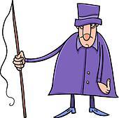coachman character cartoon illustration