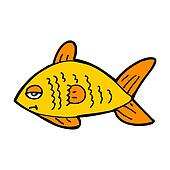 cartoon funny fish