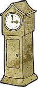 cartoon grandfather clock