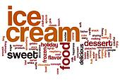 Ice cream word cloud