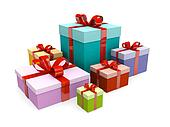 Christmas colorful present gift box