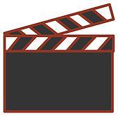 Film action clapboard