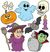 Halloween cartoons collection