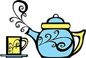 Swirl Teapot and Mug