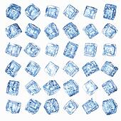 The wall of ice cubes