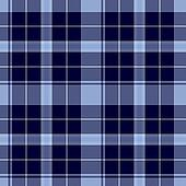 Traditional Scottish blue tartan pattern made seamless for kilt or bandana
